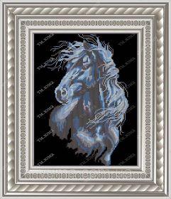 ЮМА ЮМА-3348а Лошадь Ночь схема для вышивки бисером купить оптом в магазине Золотая Игла - вышивка бисером