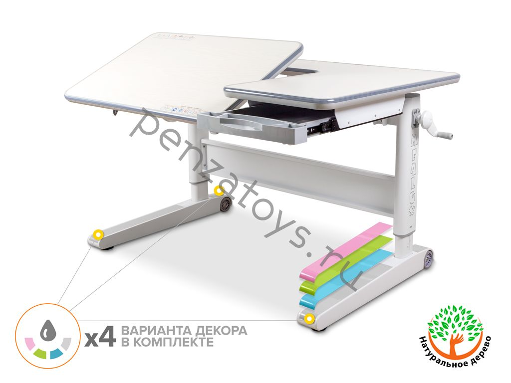 Растущая стол-парта Mealux RichWood Multicolor