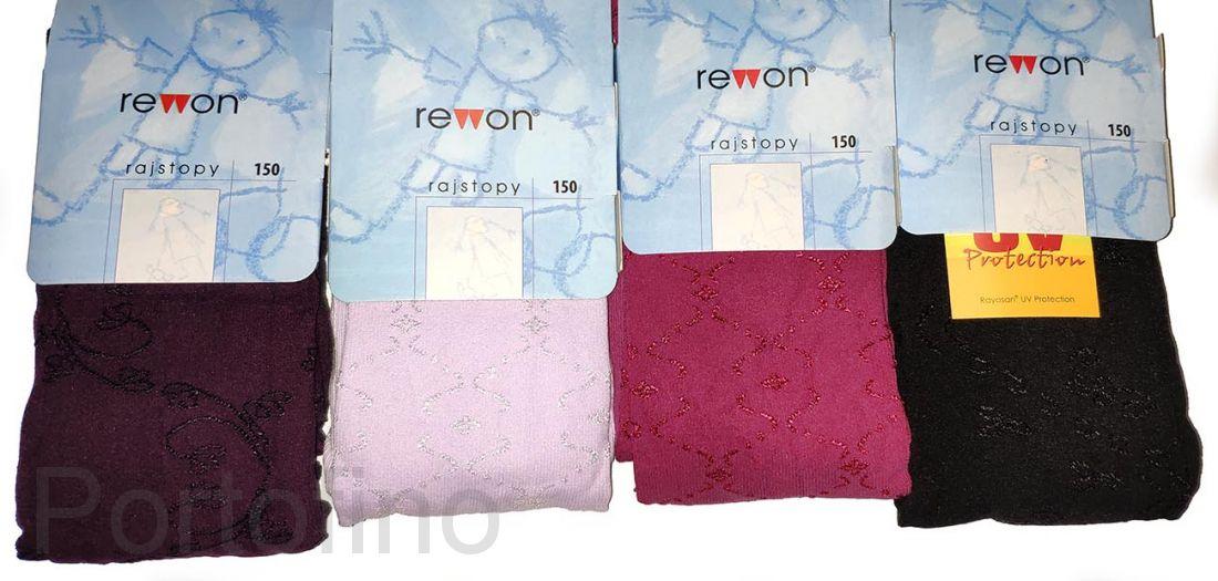 503-009G (150) Колготки с добавлением вискозы для девочек   Rewon