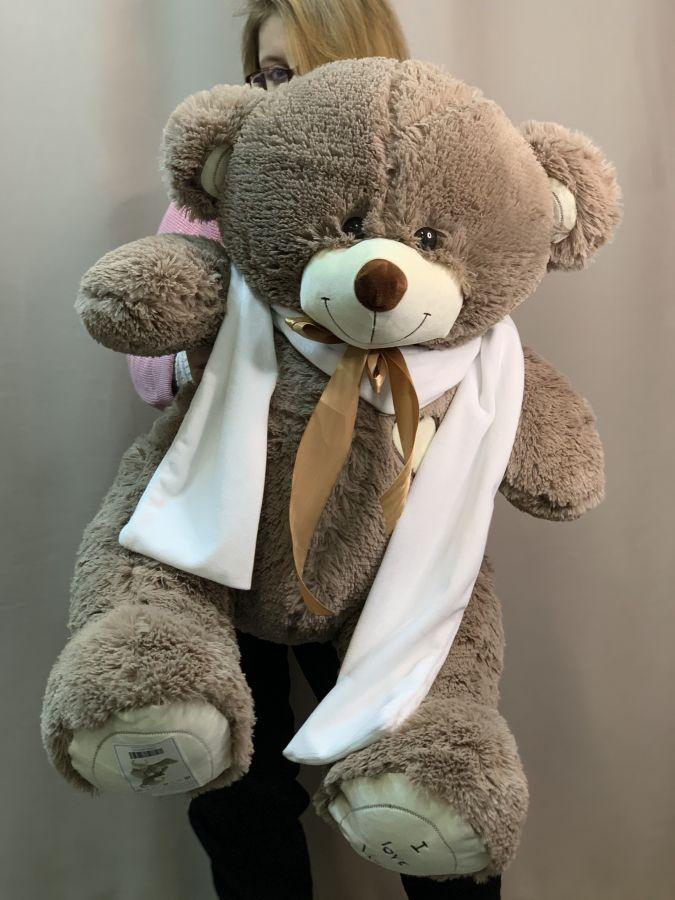 Мягкая Игрушка Мишка в белом шарфе