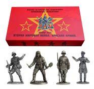 Набор №4 Красная Армия. Вторая мировая война.Оловянные солдатики