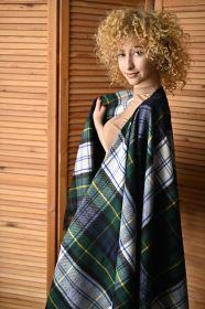 Теплое пончо,  100 % стопроцентная шотландская овечья шерсть, расцветка (тартан)  Гордон (парадный вариант), плотность 6