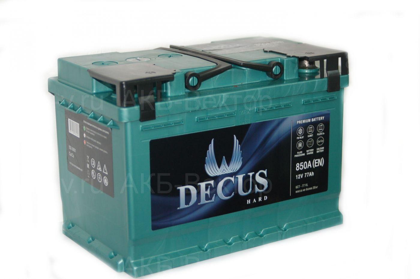 Decus 77Ач 850А(EN)