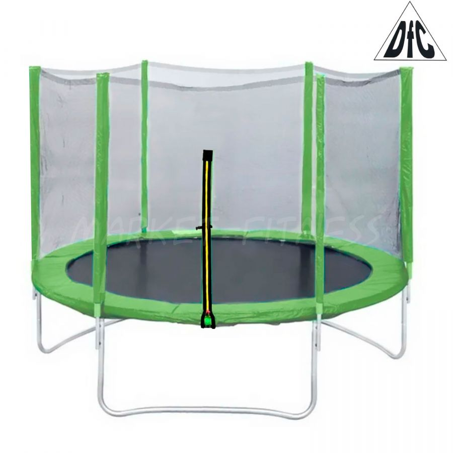 Батут DFC Trampoline Fitness 5ft наружн.сетка, зеленый (1.52м)