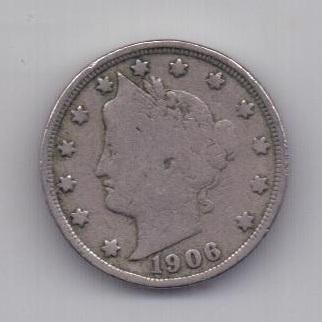 5 центов 1906 года США