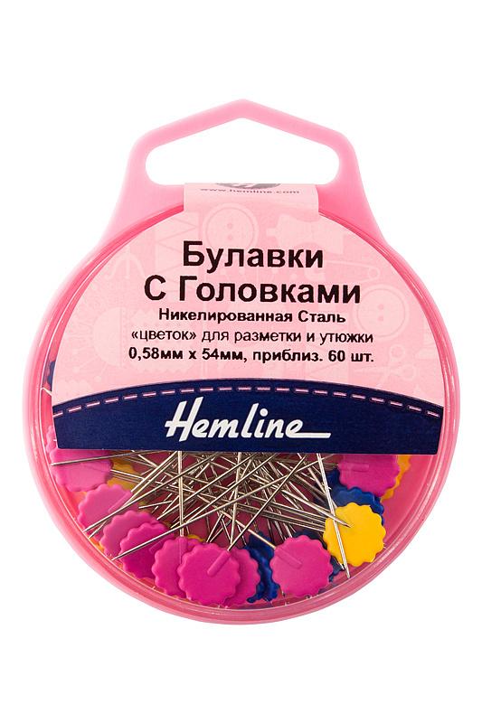 Булавки с плоскими головками цветок Hemline  (707/G002)