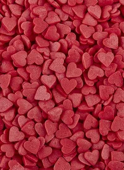 """Посыпка """"Сердечки красные"""" мини"""