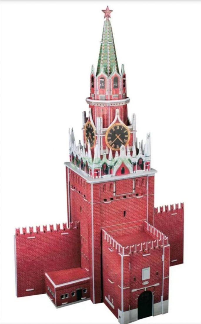 3D пазл Спасская башня 22 элемента.