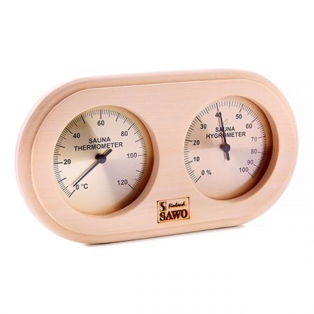 Термогигрометр SAWO 222-THА из осины