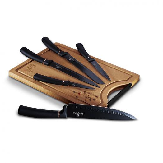 BH-2550 Black Rose Collection Набор ножей 6пр.