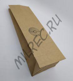 Пакет упаковочный бумажный, Наркомпищепром, Главсахар (реплика) 26х9х6 см.