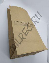 Пакет упаковочный бумажный, Наркомпищепром (реплика) 30х15х9 см.
