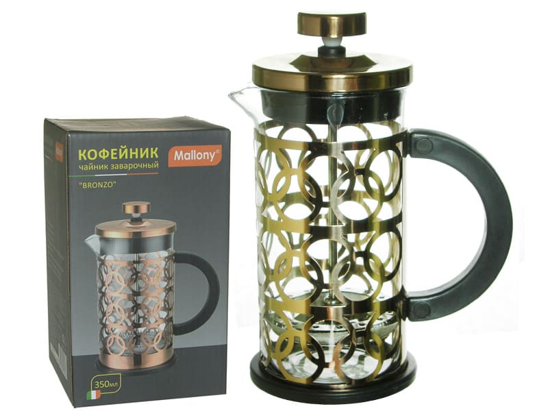 Чайник/кофейник (кофе-пресс), BRONZO, объем: 350 мл