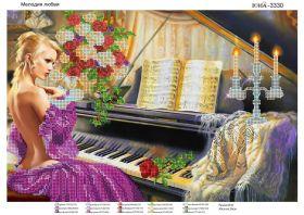 ЮМА ЮМА-3330 Мелодия Любви схема для вышивки бисером купить оптом в магазине Золотая Игла - вышивка бисером