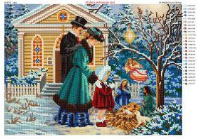 ЮМА ЮМА-3325 Рождество в Семейном Кругу схема для вышивки бисером купить оптом в магазине Золотая Игла - вышивка бисером