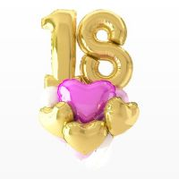 Букет из шаров «С любовью», две цифры