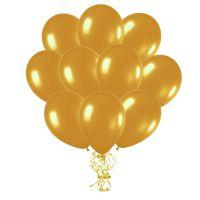 Воздушные шары с гелием «Золотой», металлик 10 шт