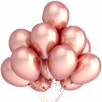 Воздушные шары с гелием розовый хром 10 шт