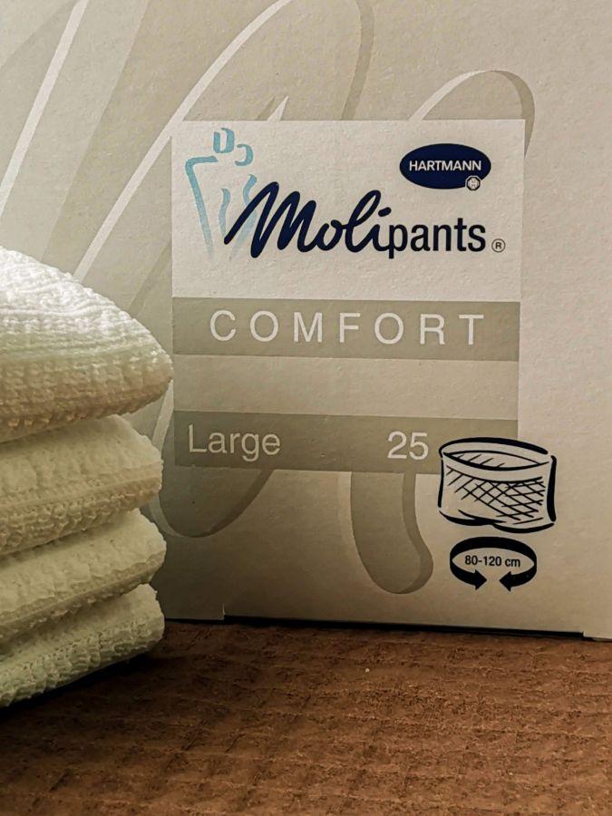 MOLIPANTS Comfort Large - Штанишки для фиксации прокладкипрокладок, коробка 25 шт, размер L