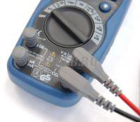 АММ-1028 Мультиметр цифровой - входные разъёмы с защитой от пыли и влаги фото