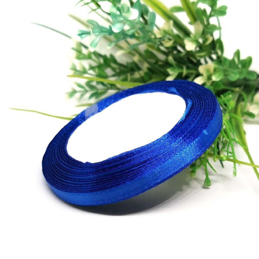 Лента Атласная, 6 мм, 22,86 м, цвет ярко-синий.