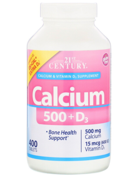 21st Century  Calcium 500+D3 400 табл