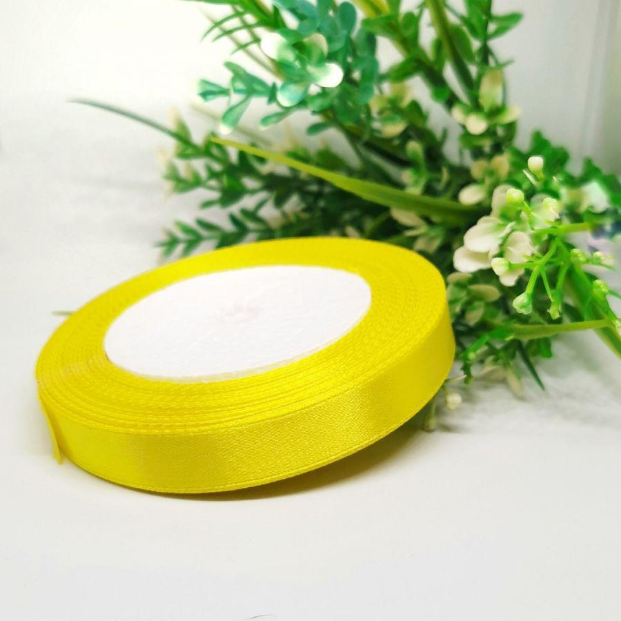 Лента Атласная, 12 мм, 22,86 м, цвет Желтый