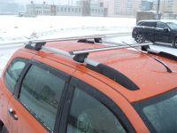 Багажник на рейлинги Lada Granta / Lada Kalina универсал, ALFA TOUR, крыловидные дуги (Delta Compact)
