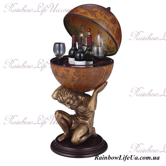 """Глобус бар напольный 42016 коричневый """"Atlas"""""""