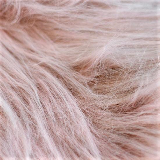 Мех для бороды длинноворсовый - Бежево-розовый 50х37