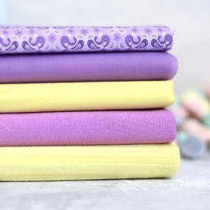Набор тканей для пошива - Лаванда и мед