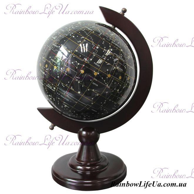 Глобус - ночное небо Созвездия из полудрагоценного камня топаз