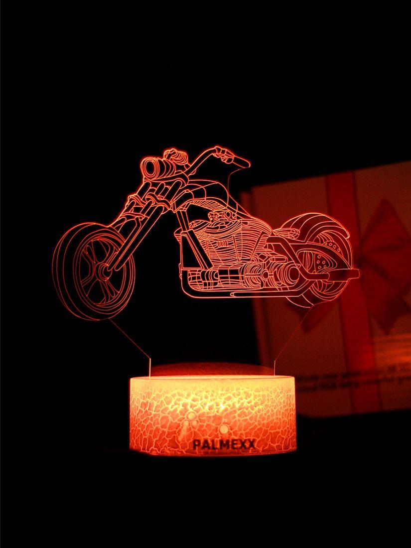 Светодиодный ночник PALMEXX 3D светильник LED RGB 7 цветов (мотоцикл)