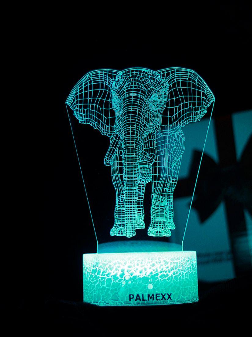 Светодиодный ночник PALMEXX 3D светильник LED RGB 7 цветов (слон)