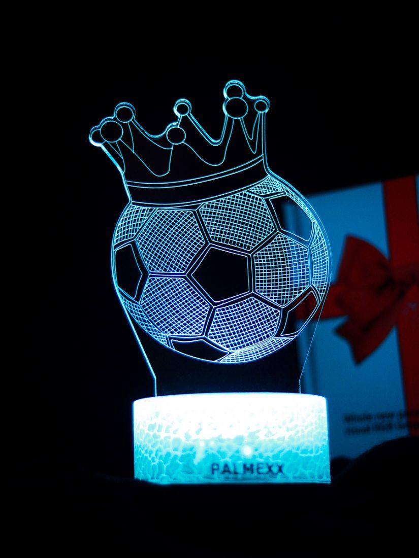 Светодиодный ночник PALMEXX 3D светильник LED RGB 7 цветов (футбольный мяч)