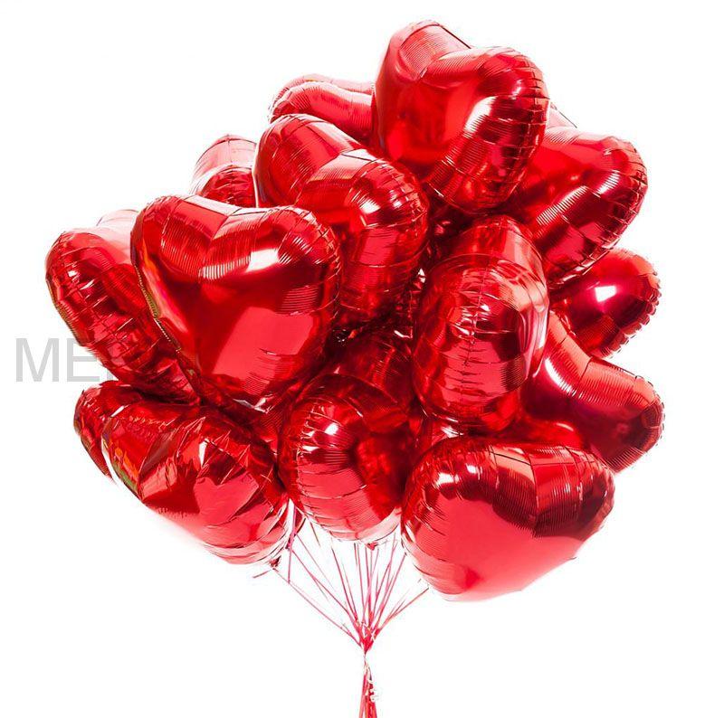 Набор шаров Красные сердца