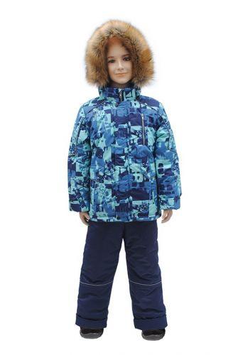 Комплект для мальчика куртка и полукомбинезон Зима, 7-10 лет Rusland RLА108-16