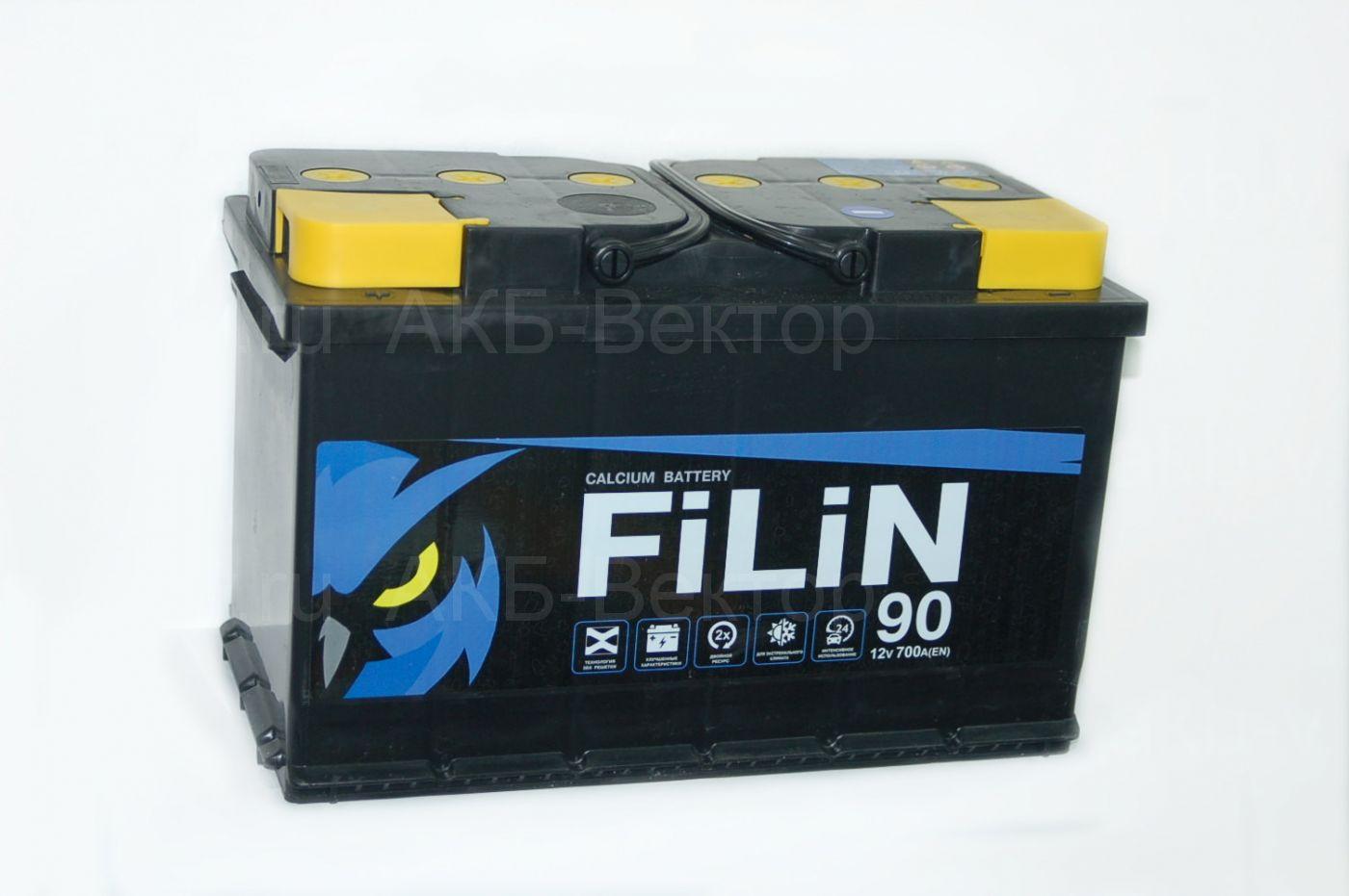 Filin 90Ач 700A(EN) Тюменский аккумуляторный завод