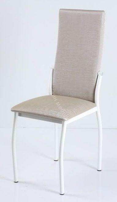 """Кухонный стул """"B-610"""" Слоновая кость бенгал/Белый"""