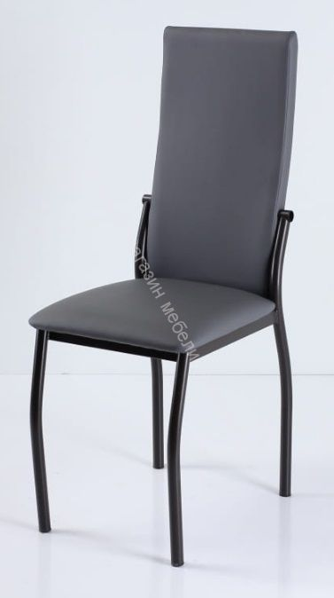"Кухонный стул ""B-610"" Серый кожзам/Коричневый"