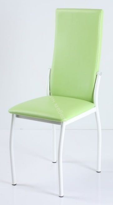 "Кухонный стул ""B-610"" Фисташковый кожзам/Белый"