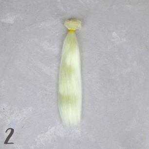 Шелковые трессы для создания причеcки куклам - Шампань 20 см