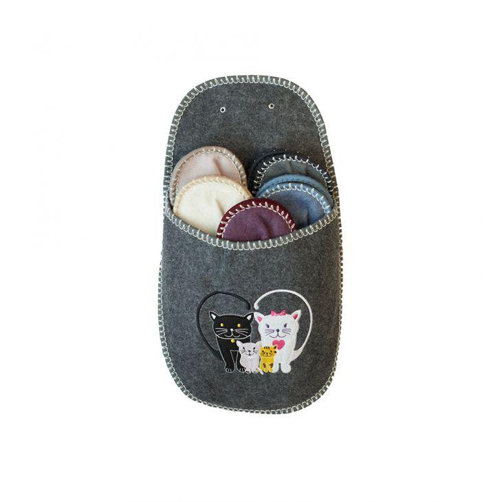 Тапочки подарочные 5 размеров CAT gray