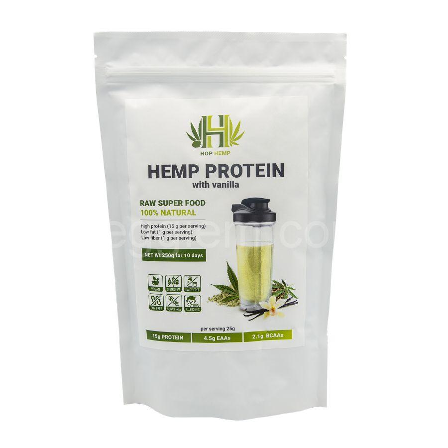 """Протеин конопляный с ванилью Hemp Protein """"HopHemp"""",250 грамм"""