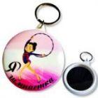 Брелок с зеркалом (Я гимнастка, Розовый)