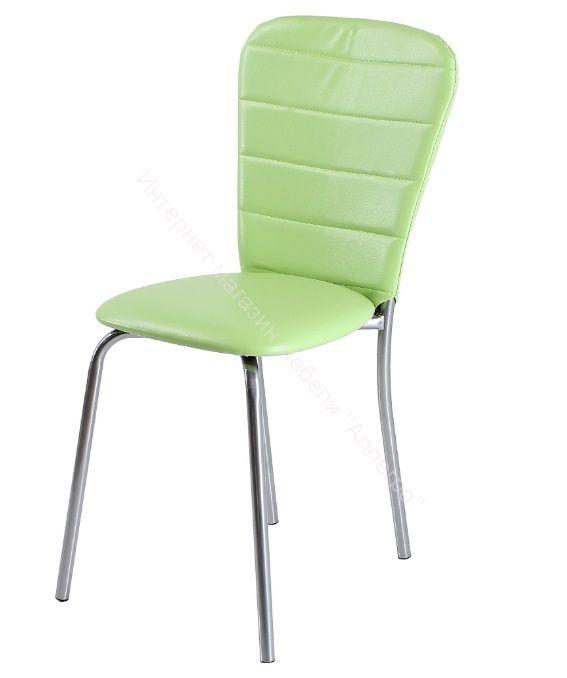 """Кухонный стул """"В-2"""" Фисташковый кожзам/Хром"""