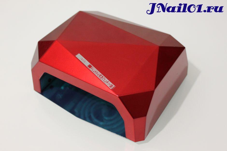"""UV-LED Лампа 36W """"Crystal"""" (10,20,30сек) Красная"""