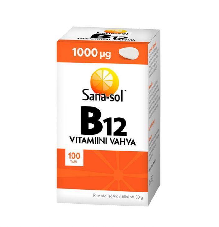 Sana-Sol vitamini B12 1000 mkg 100 tabl