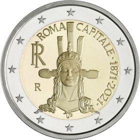150 лет со дня провозглашения Рима столицей Италии  2 евро Италия 2021