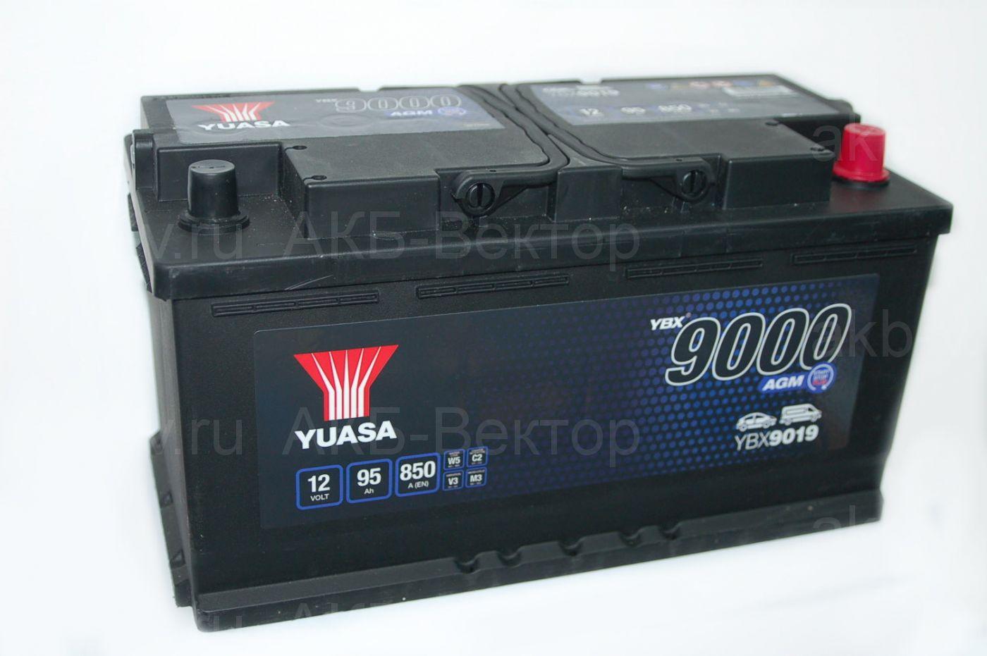 YUASA AGM 95Aч 850А(EN) YBX9019-095
